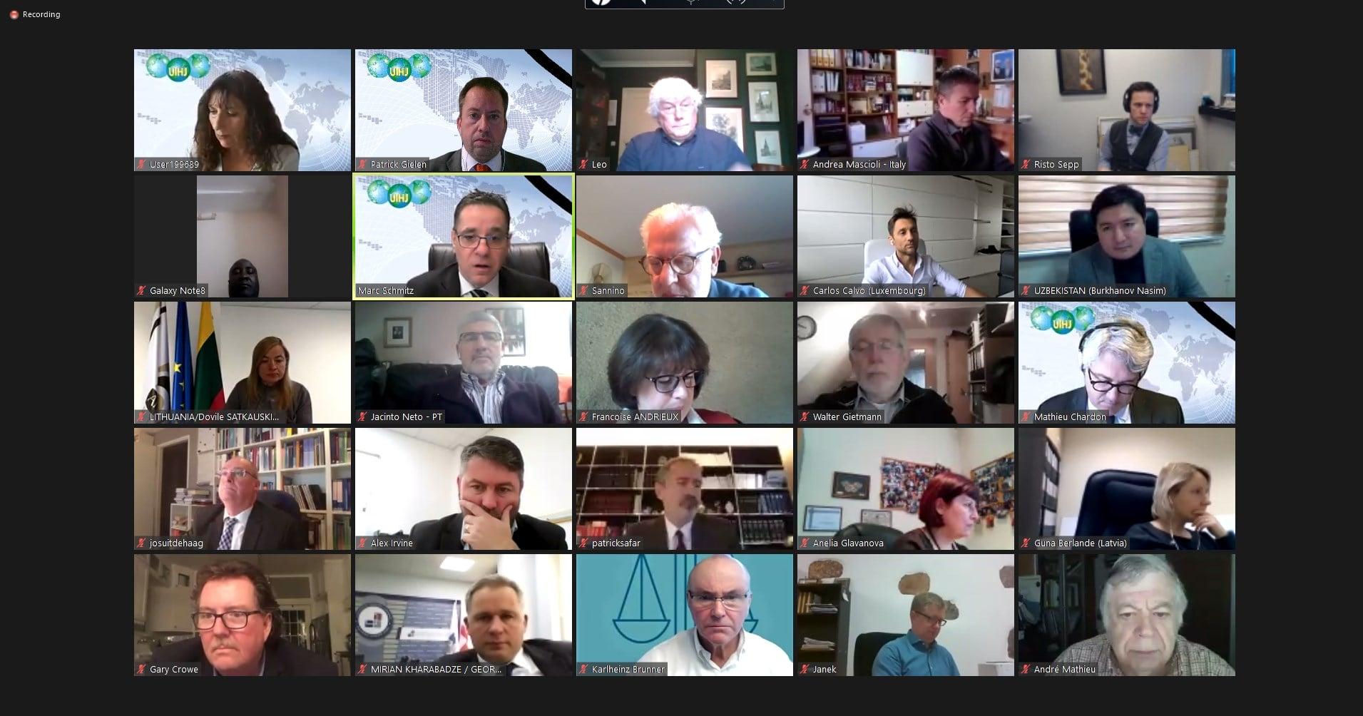 48 délégations pour le 1er conseil permanent online de l'histoire de l'UIHJ